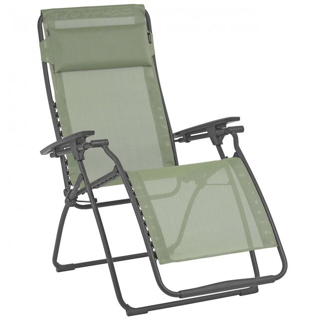 Lafuma Mobilier Futura Chaise longue avec Cannage Phifertex, moss
